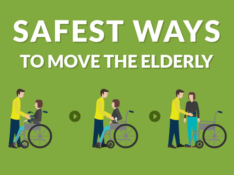safest ways to move the elderly infographic